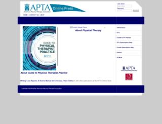 ptknowledge.apta.org screenshot