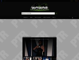 ptr.wowdb.com screenshot