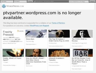 ptvpartner.wordpress.com screenshot