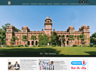 pu.edu.pk screenshot