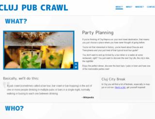 pubcrawl.clujlife.com screenshot