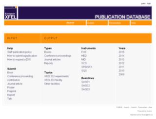 pubdb.xfel.eu screenshot
