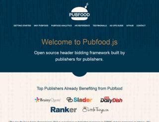 pubfood.org screenshot