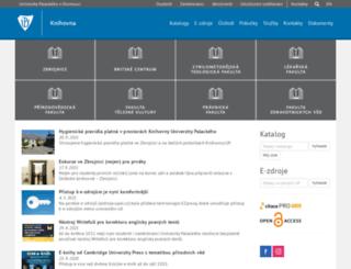 publib.upol.cz screenshot