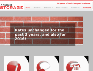 public-storage.co.za screenshot