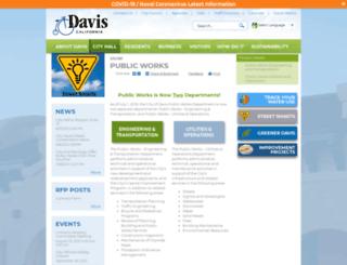 public-works.cityofdavis.org screenshot