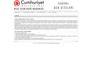 public.cumhuriyet.edu.tr screenshot
