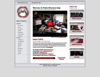 public.resource.org screenshot