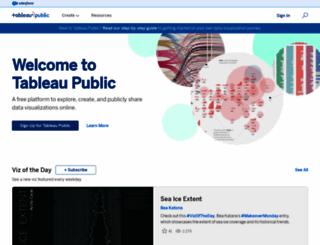 public.tableausoftware.com screenshot