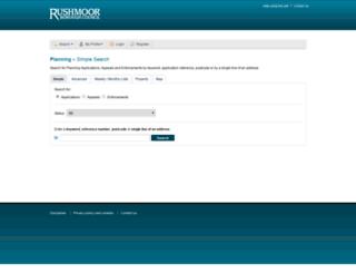 publicaccess.rushmoor.gov.uk screenshot