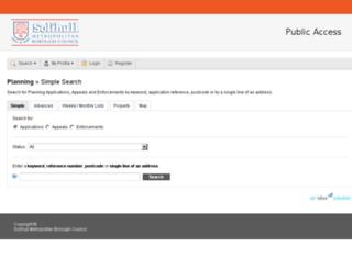 publicaccess.solihull.gov.uk screenshot