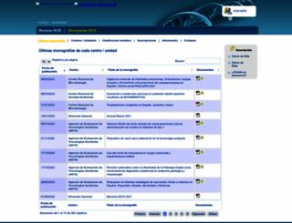 publicaciones.isciii.es screenshot