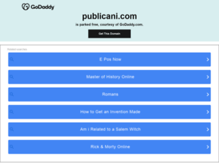 publicani.com screenshot