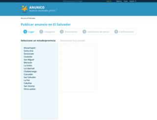 publicar.anunico.com.sv screenshot