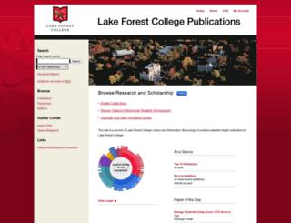 publications.lakeforest.edu screenshot