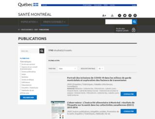 publications.santemontreal.qc.ca screenshot