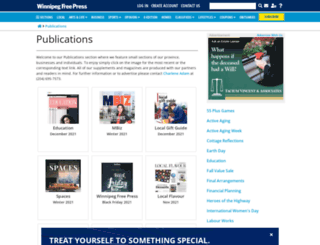 publications.winnipegfreepress.com screenshot