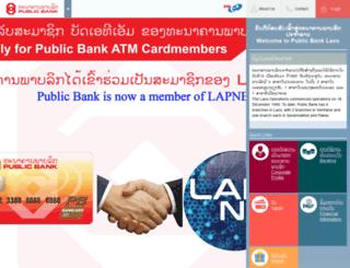 publicbank.com.la screenshot