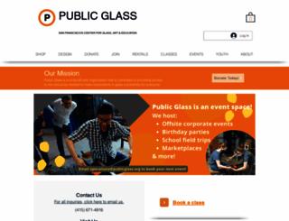 publicglass.org screenshot