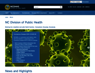 publichealth.nc.gov screenshot