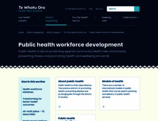 publichealthworkforce.org.nz screenshot