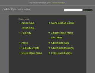 publicityarena.com screenshot