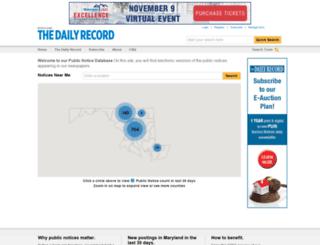 publicnotices.thedailyrecord.com screenshot