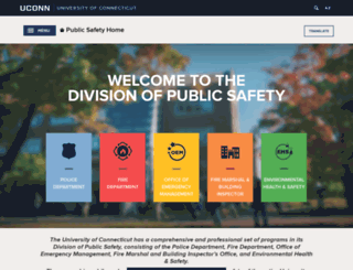 publicsafety.uconn.edu screenshot