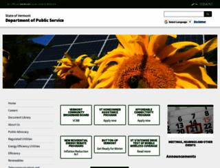 publicservice.vermont.gov screenshot