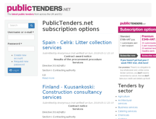 publictenders.net screenshot