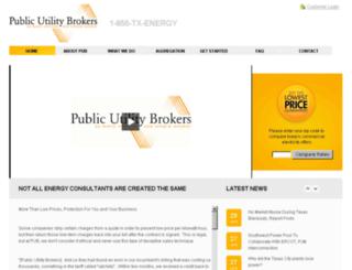publicutilitybrokers.com screenshot