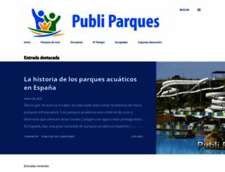 publiparques.com screenshot