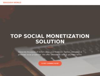 publisher.waggishworld.com screenshot