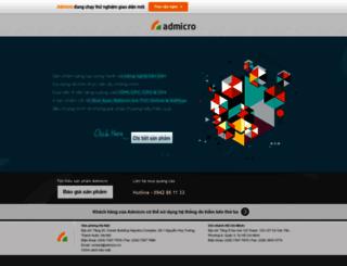 publishers.admicro.vn screenshot