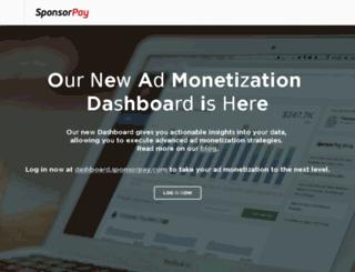 publishers.sponsorpay.com screenshot