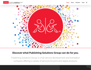 publishingsolutionsgroup.com screenshot