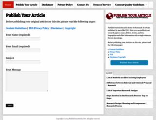 publishyourarticles.net screenshot