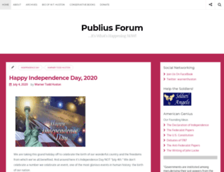 publiusforum.com screenshot