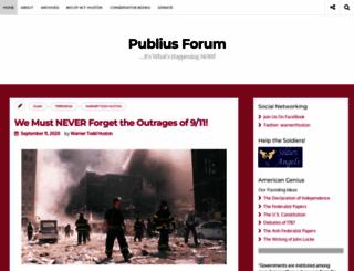 publiusforum.com screenshot
