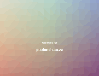 publunch.co.za screenshot