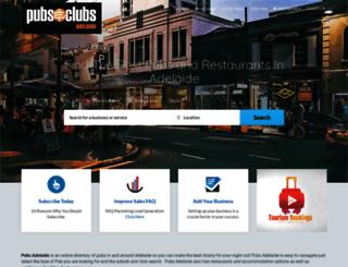 pubsadelaide.com screenshot