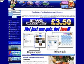 pubsquiz.co.uk screenshot