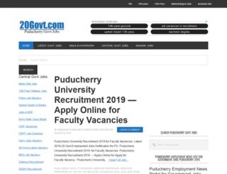 puducherry.20govt.com screenshot