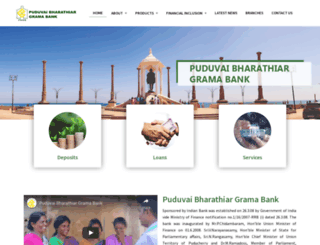 puduvaibharathiargramabank.in screenshot