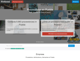 puebla.infored.com.mx screenshot