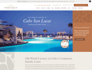 pueblobonitosunsetbeach.com screenshot