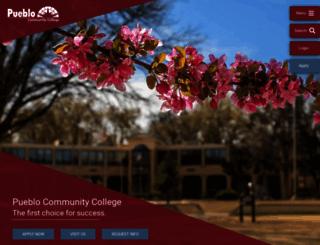 pueblocc.edu screenshot
