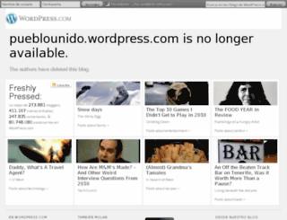 pueblounido.wordpress.com screenshot