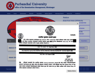 puexam.edu.np screenshot