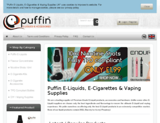 puffin-eliquid.com screenshot